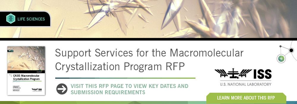 RFP fpr ISS Support Services for Macromolecular Crystalization Program