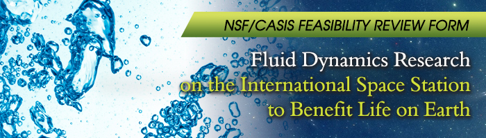 RFP banner 2015 NSF CASIS Fluid Dynamics