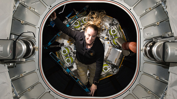 astro kate touring iss