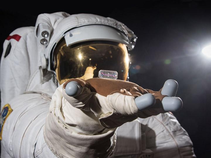 astronaut hand tissue chip