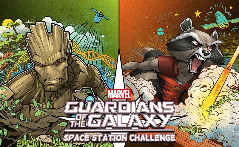 marvel casis space station challenge slide
