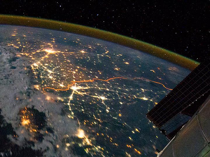 night pakistan space