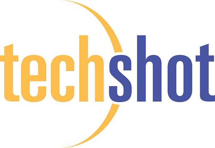 techshot gold blue logo
